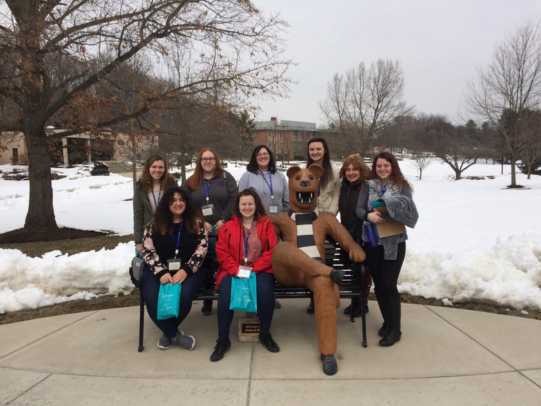 left to right: (front)Lydia Bertschy, Briana Sammans, (back) Quinn Holl, Cady Moylan, Nikki Mukul, Jadenne Dalton, Mrs. Benz, and Camryn Hoagland