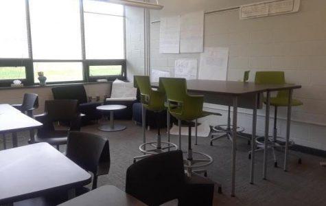 Mrs. Palerino's classroom undergoes a complete renovation